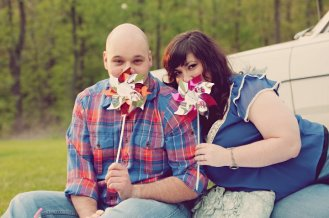 Carnival Themed Engagement Photo   Life Is Sweet As A Peach