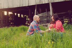 Country Barn Engagement Photo   Life Is Sweet As A Peach