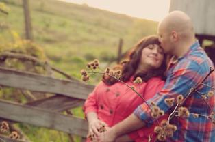 Country Sunset Engagement Photo | Life Is Sweet As A Peach