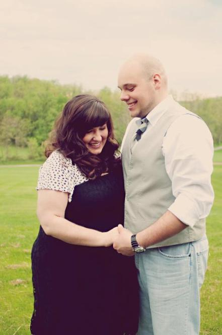 Vintage-Style Engagement Photo Portrait | Life Is Sweet As A Peach