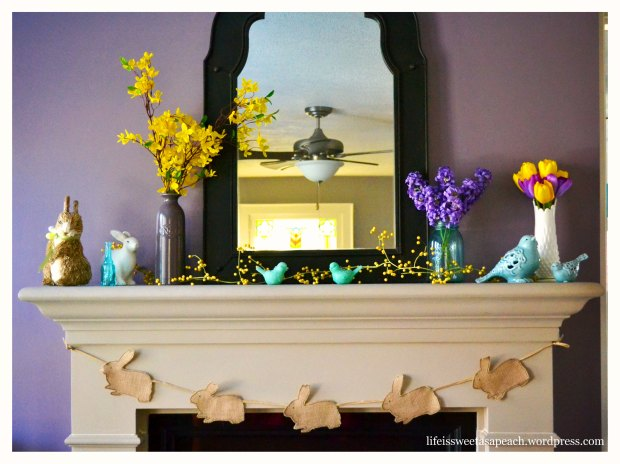 spring mantle easter decorations