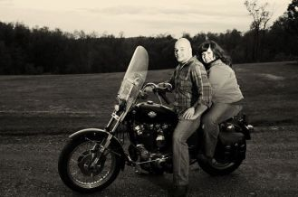 Motorcycle Engagement Photo   Life Is Sweet As A Peach