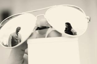 Reflection in Sunglasses Engagement Photo | Life Is Sweet As A Peach