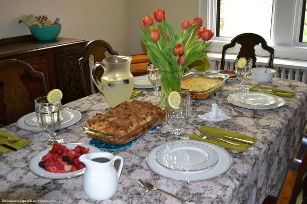 Table setting for mother's day brunch