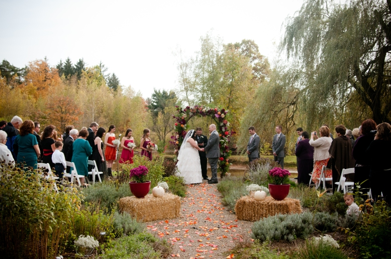 outdoor fall wedding at succop conversancy