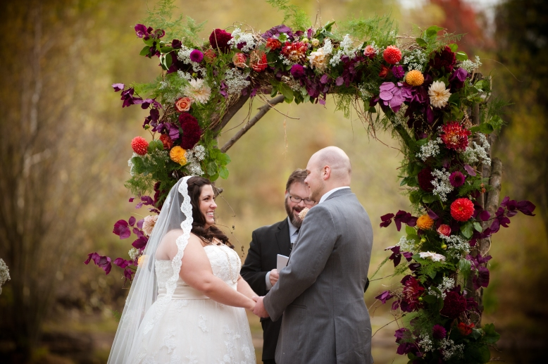 outdoor fall wedding at succop conversancy