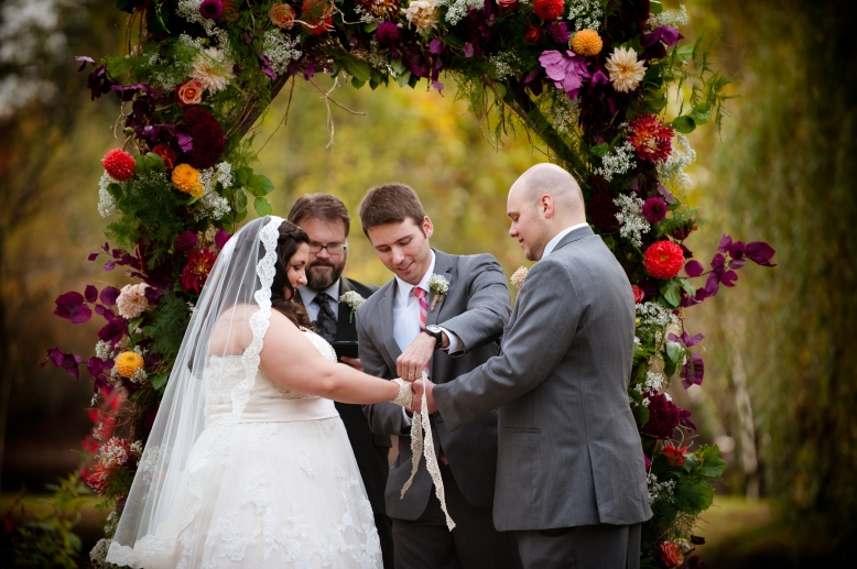 tying the knot by hand fasting