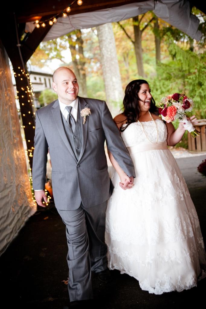 bride and groom entering reception succop conservancy