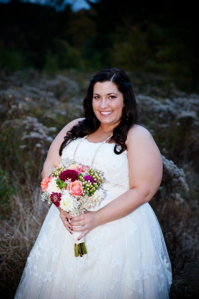 rustic bridal portrait