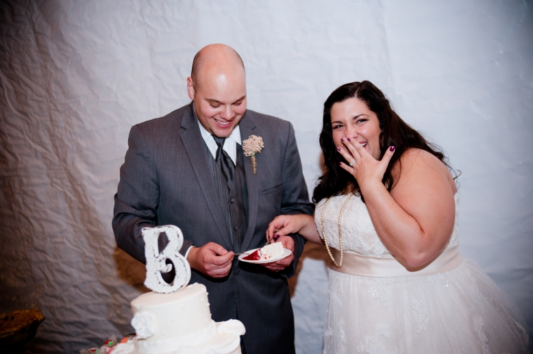 cutting wedding cake succop conservancy