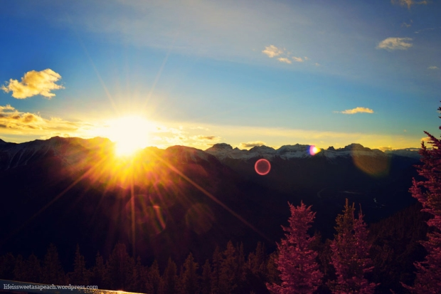 Banff Gondola Mountain Sunset View