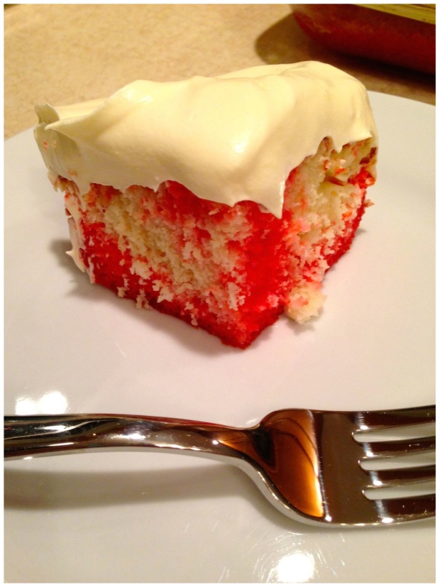 Jello Raspberry Lemon Flavor Poke Cake Recipe