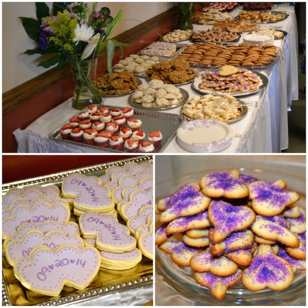 Purple Bridal Shower Cookies, Heart Shaped | Life Is Sweet as a Peach
