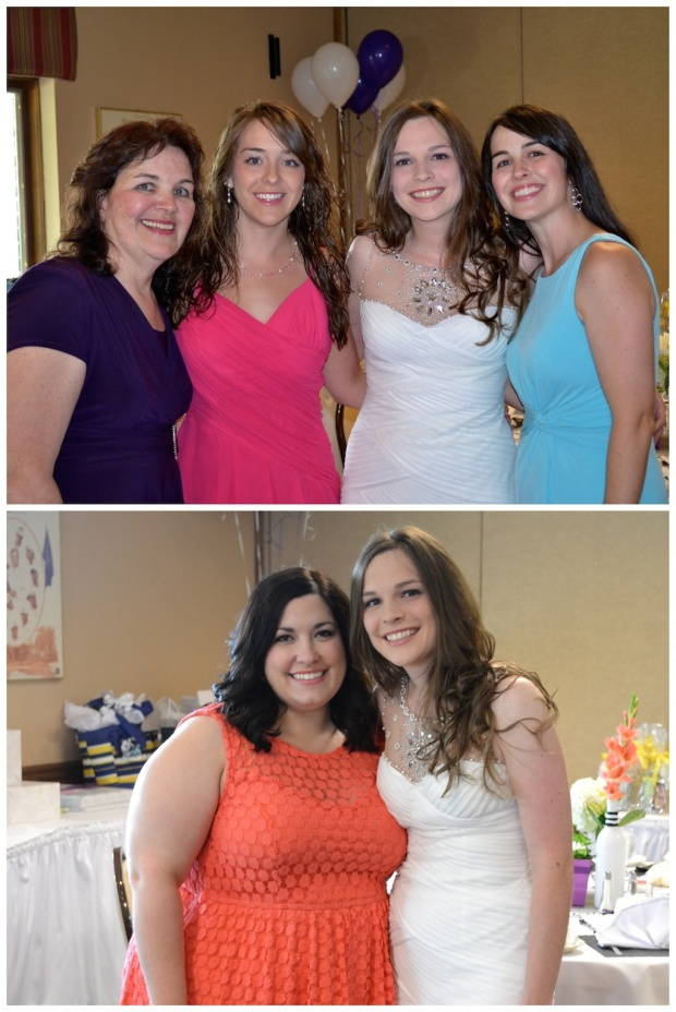 Top Photo: Mallory with her mom and two sisters.  Bottom Photo: Me and Mal