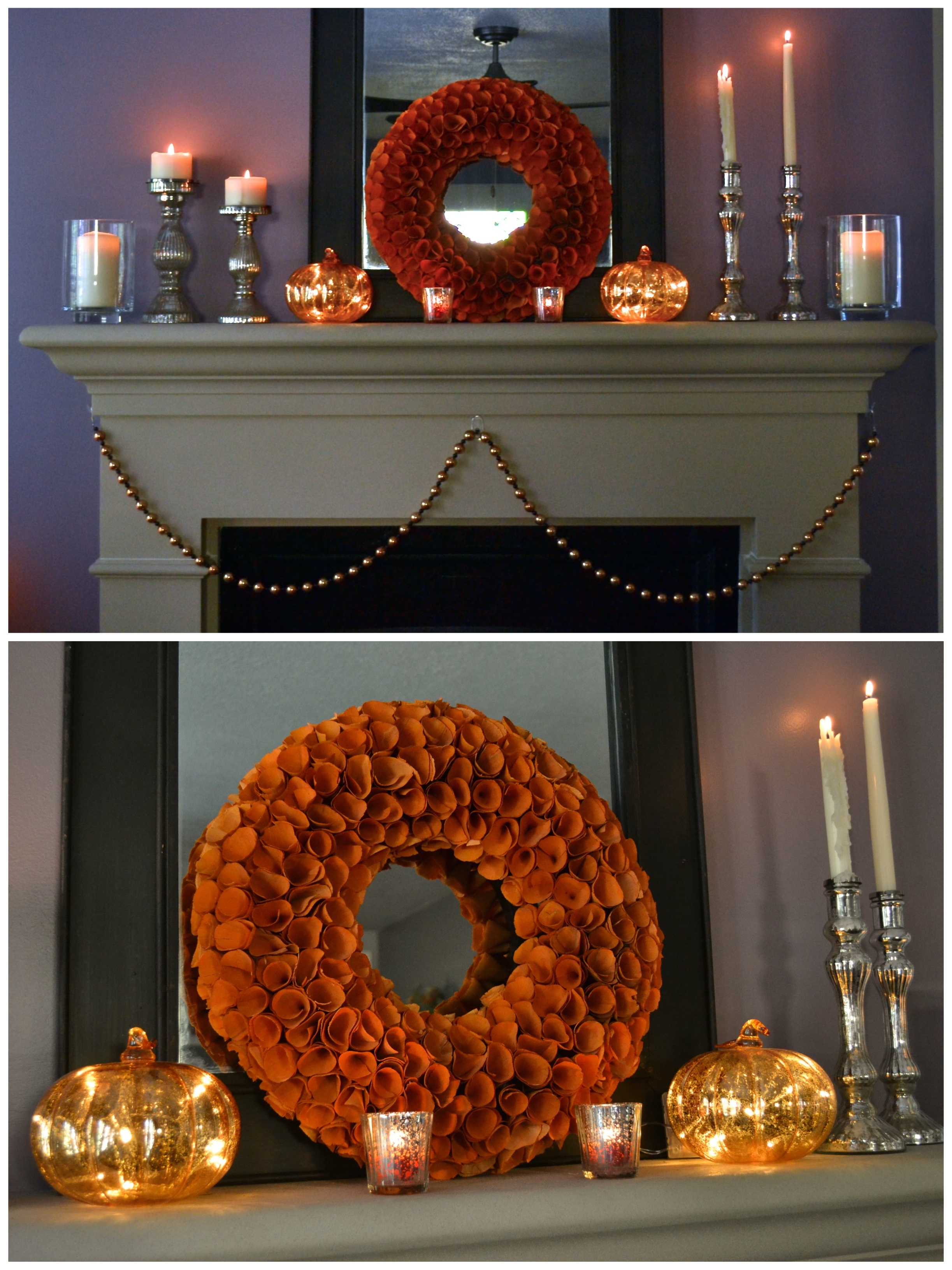 pretty halloween mantle sweet as a peach - Pretty Halloween Decorations