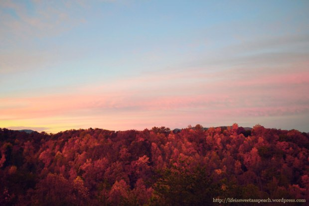 Smoky Mountain Sunrise | Life Is Sweet As A Peach
