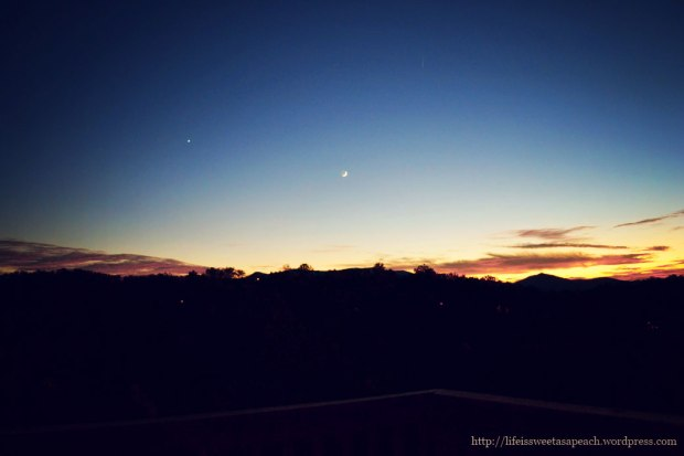 Smoky Mountain Stars at Dusk | Life Is Sweet As A Peach