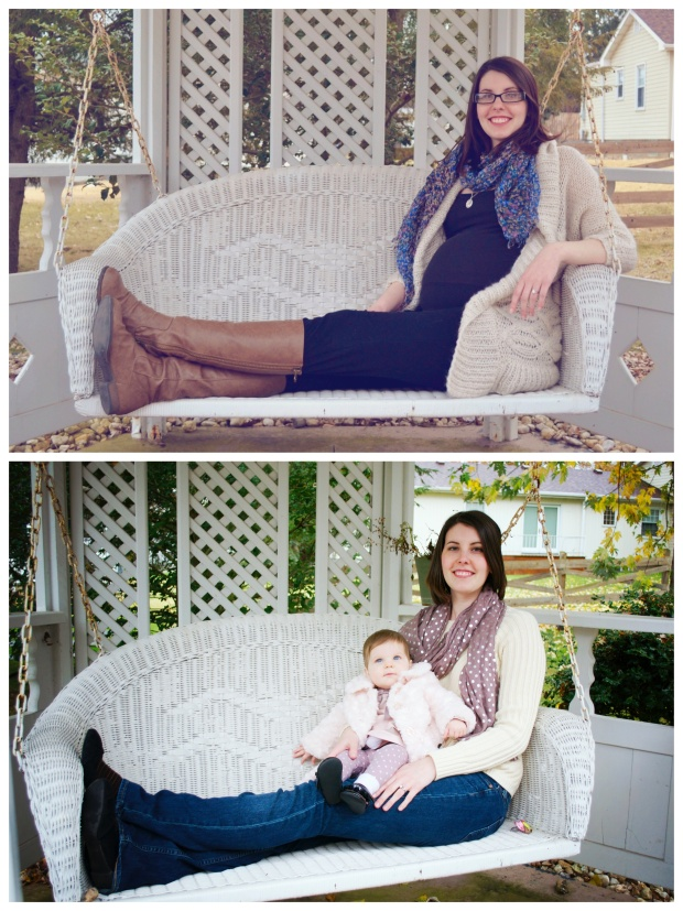 Before and After Maternity Photos | Life Is Sweet As A Peach