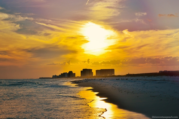 Destin, Florida Beach Sunset | Life Is Sweet As A Peach