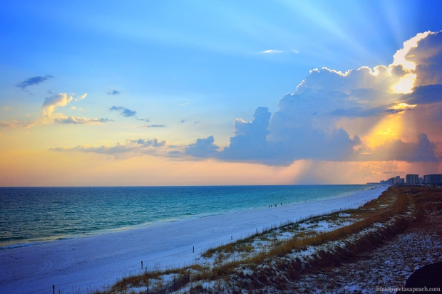 Destin, Florida Sunset at the Henderson Park Inn | Life Is Sweet As A Peach