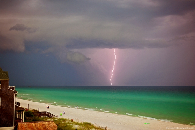 Lightning Striking Ocean, Destin| Life Is Sweet As A Peach