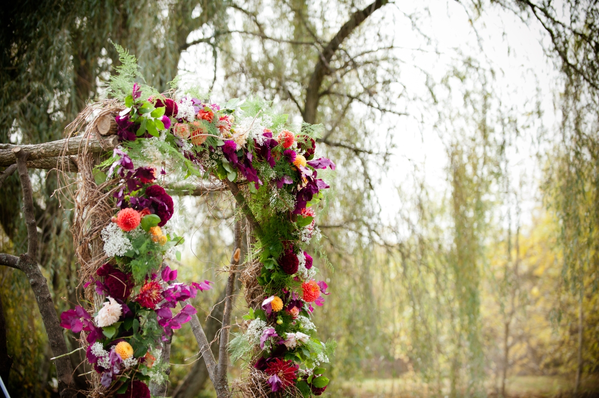 Rustic Floral Wedding Arch and Willow Tree | Life Is Sweet As A Peach