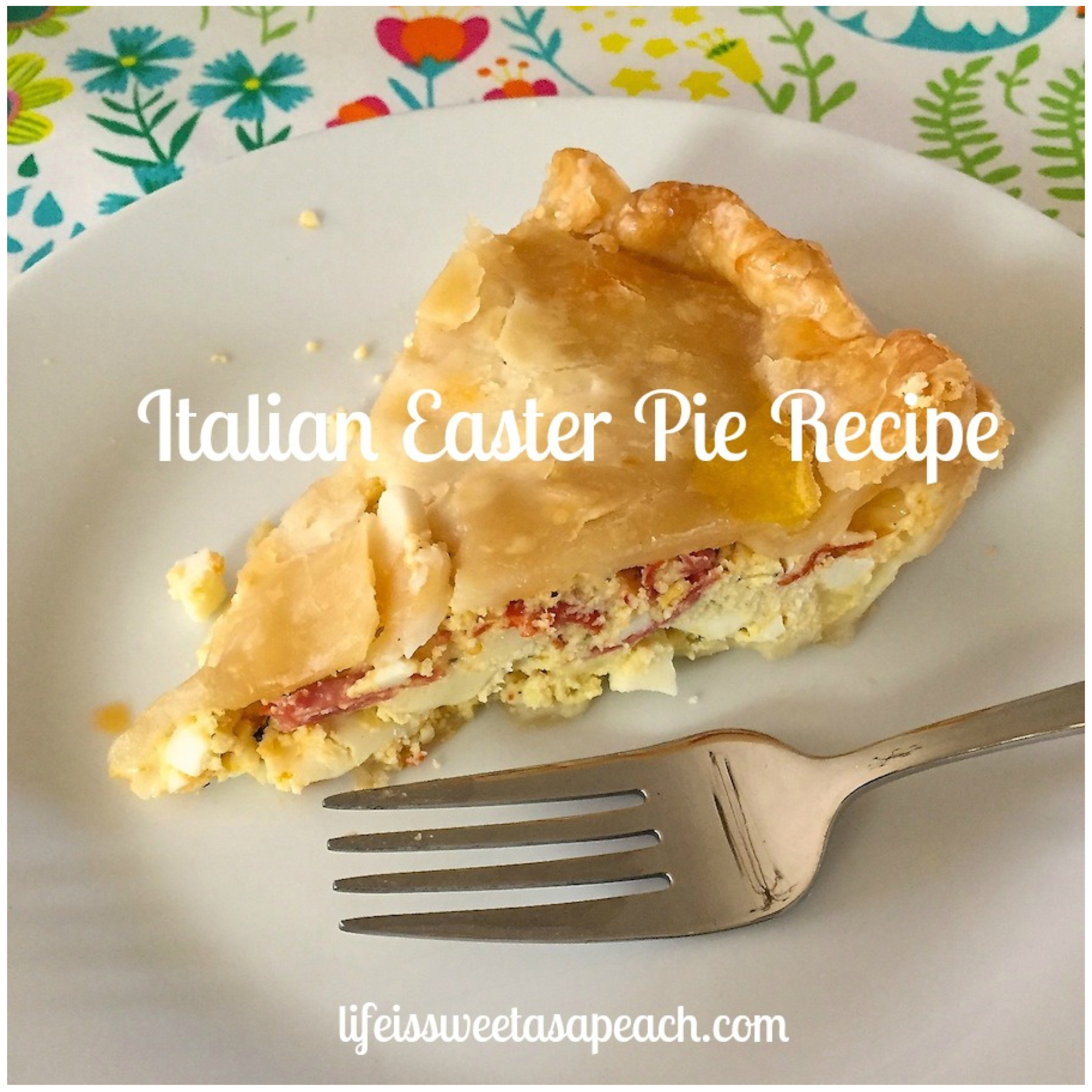 Pasqualina Cake Traditional Italian Easter Food