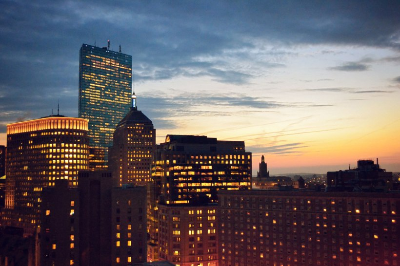 Downtown Boston Sunset | Life Is Sweet As A Peach