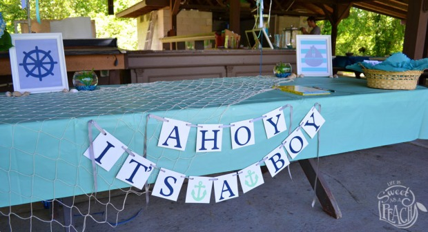 Ahoy It's a Boy Baby Shower Banner | Life Is Sweet As A Peach