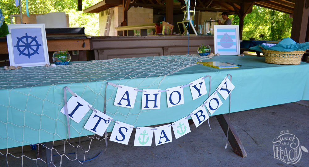 Ahoy Itu0027s A Boy Baby Shower Banner | Life Is Sweet As A Peach