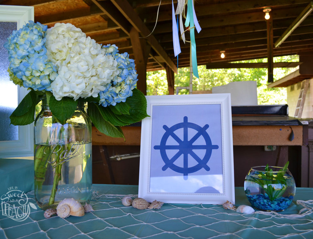 Ahoy it s a boy nautical baby shower life is sweet as for Baby shower at home decorations