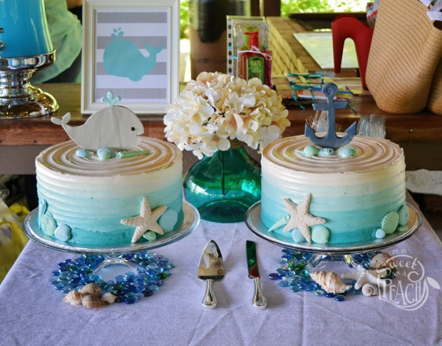 Nautical Baby Shower Cake Ideas, Ombre Cakes | Life Is Sweet As A Peach