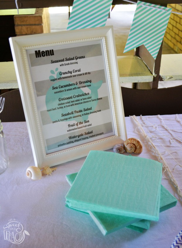 Ahoy It's a Boy Nautical Baby Shower Menu| Life Is Sweet As A Peach