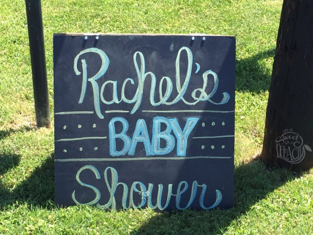 Chalkboard Road Sign, Baby Shower DIY | Life Is Sweet As A Peach