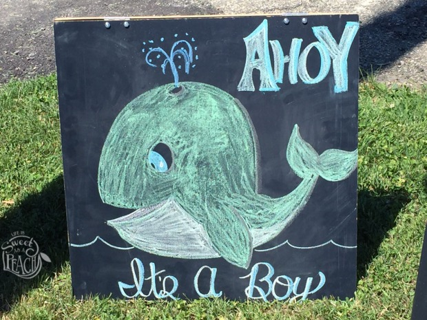 Chalkboard Road Sign, Nautical Baby Shower | Life Is Sweet As A Peach