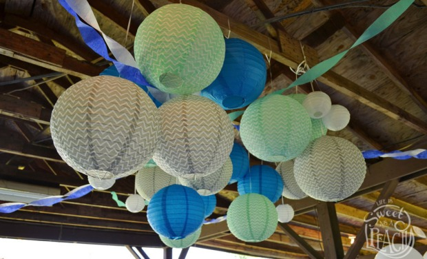 Paper Lanterns for Baby Shower Decorations | Life Is Sweet As A Peach