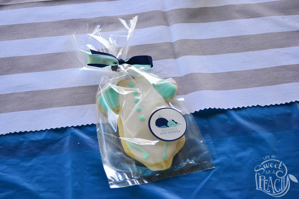 nautical baby shower onesie cookie favors life is sweet as a peach
