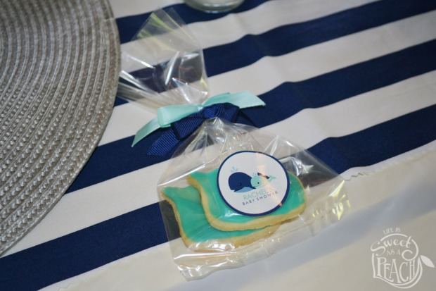 Nautical Baby Shower Whale Cookie Favors | Life Is Sweet As A Peach