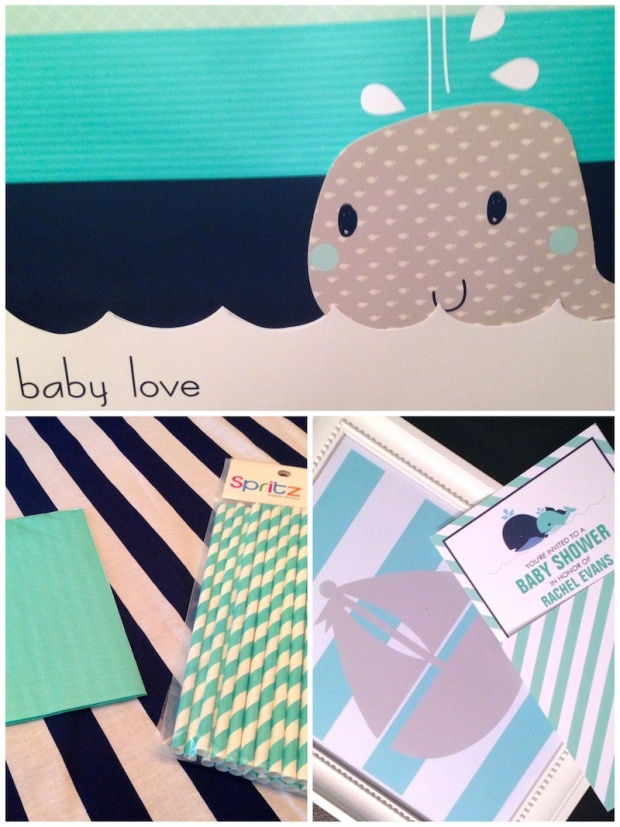 Nautical Mint and Navy Baby Shower - Planning