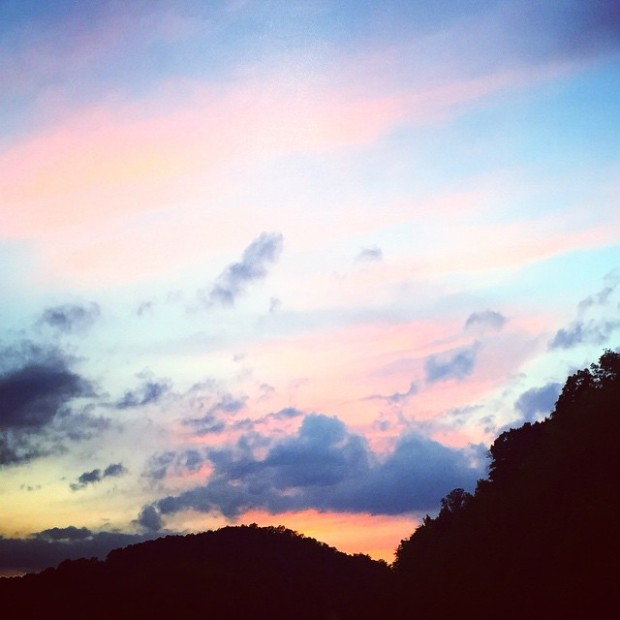 West Virginia Sunset | Life Is Sweet As A Peach