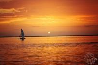 Orange Gulf Coast Sunset Photo | Life Is Sweet As A Peach