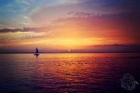 Sunset Sailboat Silhouette Destin Florida | Life Is Sweet As A Peach