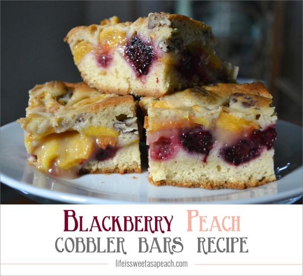Blackberry Peach Cobbler Bars Recipe | Life Is Sweet As A Peach