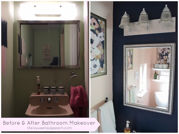 Bathroom Makeover Before & After | Life Is Sweet As A Peach