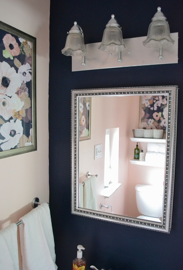 Blush and Navy Bathroom Makeover | Life Is Sweet As A Peach