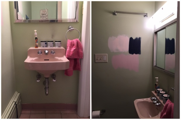 Small Bathroom Makeover - Before Pictures | Life Is Sweet As A Peach