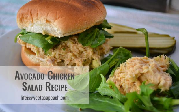 Avocado Chicken Salad Recipe | Life Is Sweet As A Peach