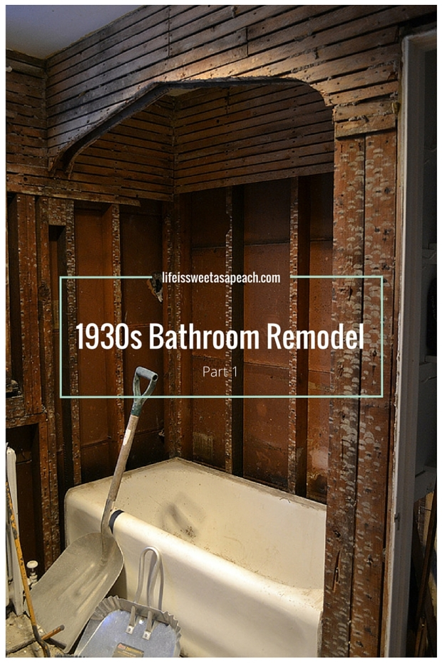 1930s bathroom remodel part 1 life is sweet as a peach for Lifestyle bathroom renovations