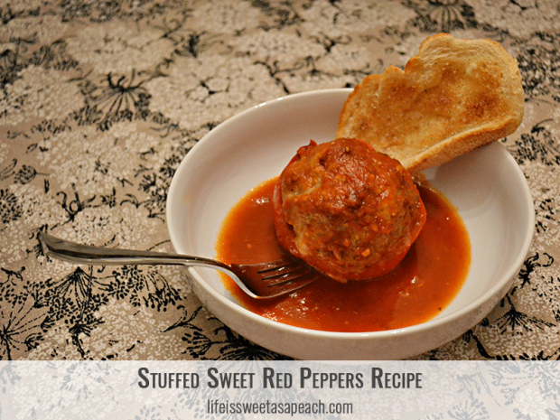 Stuffed Sweet Red Peppers Healthier Recipe | Life Is Sweet As A Peach