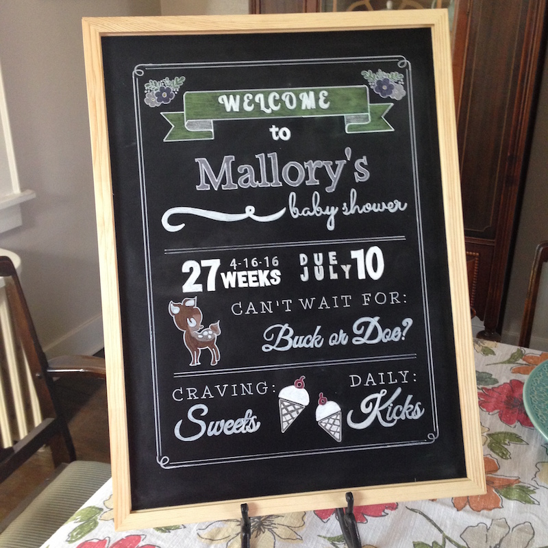 diy chalkboard baby shower sign life is sweet as a peach